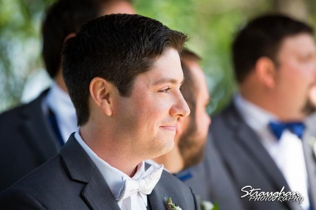Brittney wedding Stonehaven Boulder Springs groom waiting