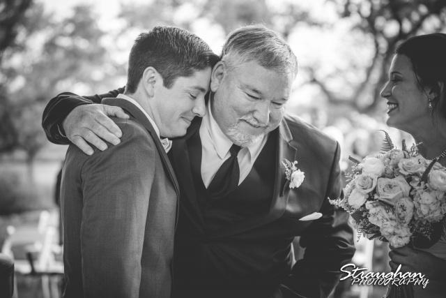 Brittney wedding Stonehaven Boulder Springs hand off