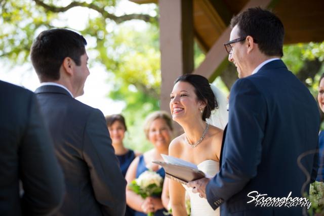 Brittney wedding Stonehaven Boulder Springs laughing
