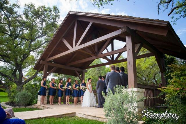 Brittney wedding Stonehaven Boulder Springs ceremony from side