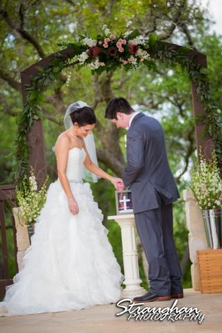Brittney wedding Stonehaven Boulder Springs sand ceremony