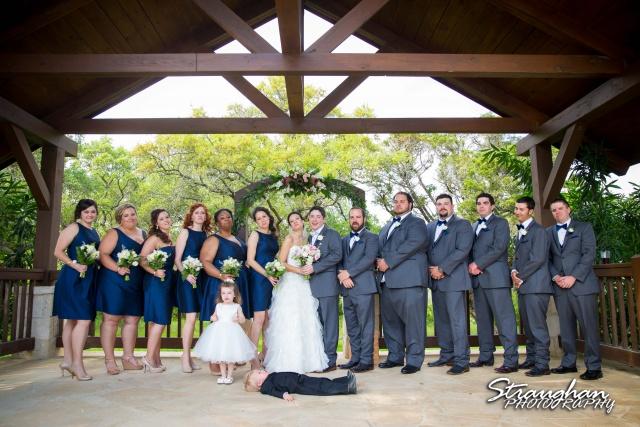 Brittney wedding Stonehaven Boulder Springs planking ring bearer