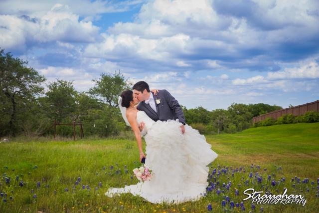 Brittney wedding Stonehaven Boulder Springs bluebonnet kiss