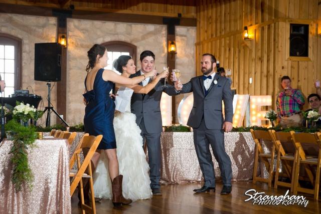 Brittney wedding Stonehaven Boulder Springs toasts