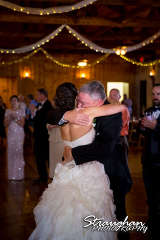 Brittney wedding Stonehaven Boulder Springs fathers dance hug