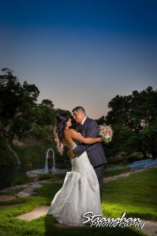 Britny's Wedding the lodge at bridal veil falls sunset by falls
