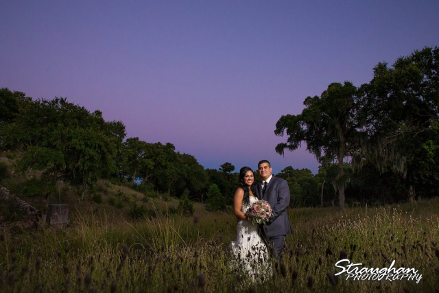 Britny and Dan's wedding sunset couple picture