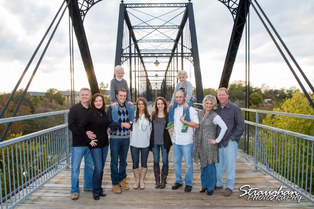 Bloess family Faust Street Bridge New Braunfels entire family