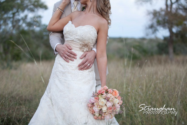 Boulder Springs Wedding dress and flowers