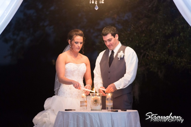 Ashton wedding Kendall Plantation candle ceremony