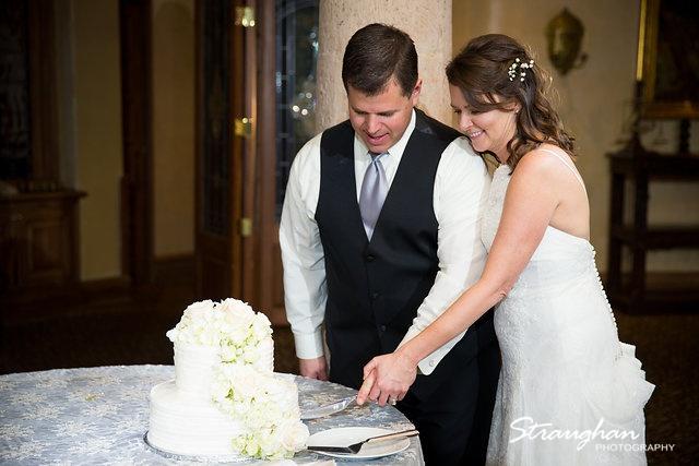 Brian and Regina at the Dominion cake