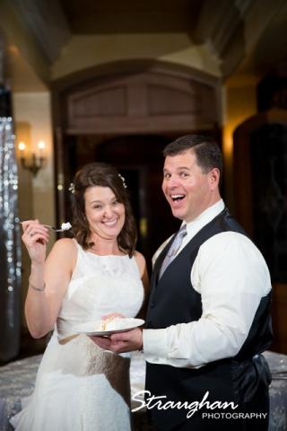 Brian and Regina at the Dominion cake feeding