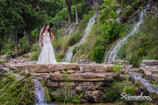 Britny's Bridal the Lodge at Bridal Veil Falls top of falls