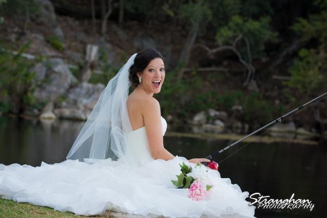 Brittany's Bridal Landa Park fishing