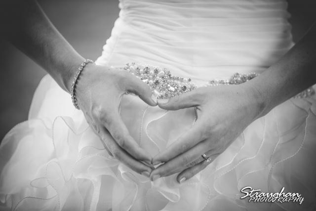 Brittany's Bridal Landa Park heart hands