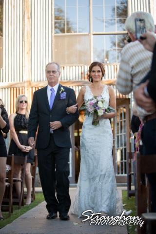 Clarissa wedding Vista West Ranch bride down the aisle