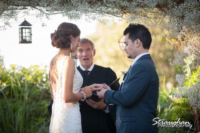 Clarissa wedding Vista West Ranch ring exchange