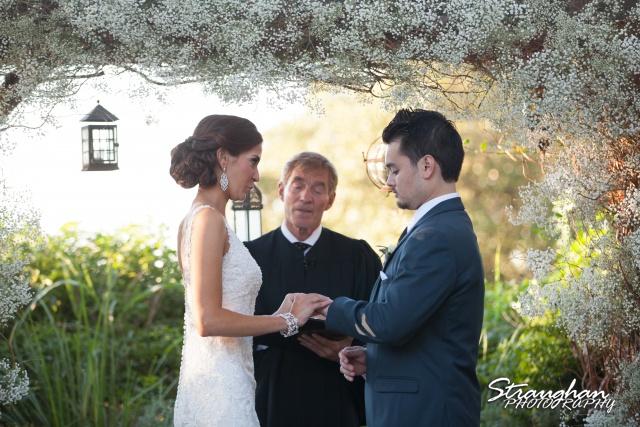 Clarissa wedding Vista West Ranch ring exchange her