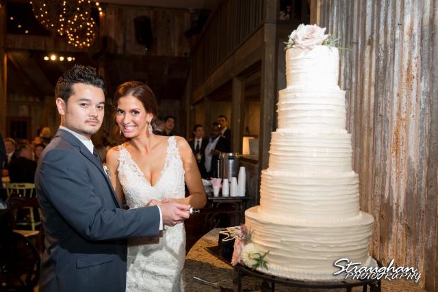 Clarissa wedding Vista West Ranch cake cutting