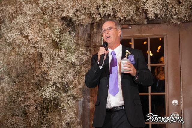 Clarissa wedding Vista West Ranch dads toasts