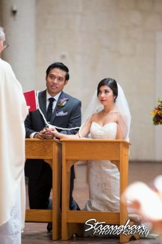 Cristina wedding St. Peters the Apostle Catholic Church Boerne lasso listening