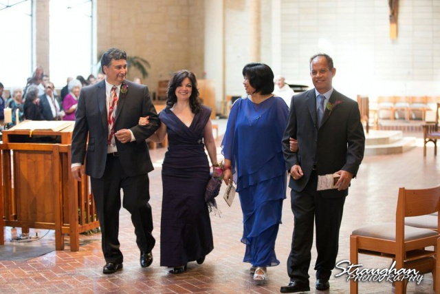 Cristina wedding St. Peters the Apostle Catholic Church Boerne parents exit