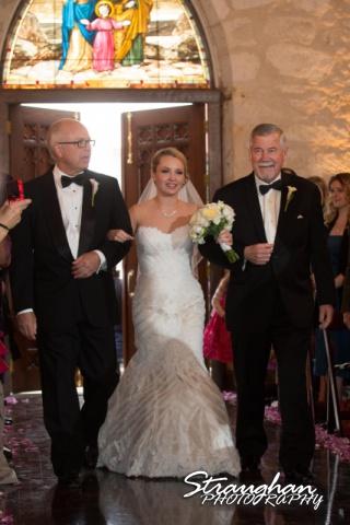 Carly's wedding Southwest School of Art aisle