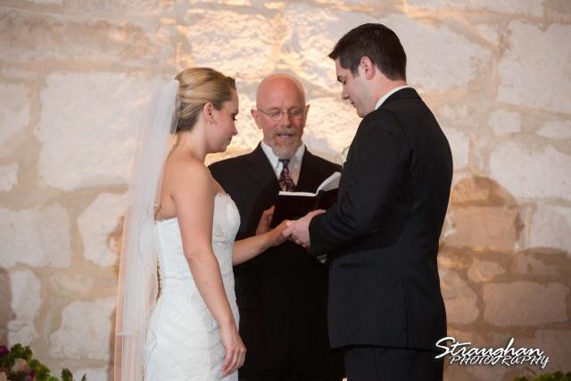 Carly's wedding Southwest School of Art rings her