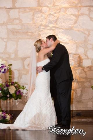 Carly's wedding Southwest School of Art kiss