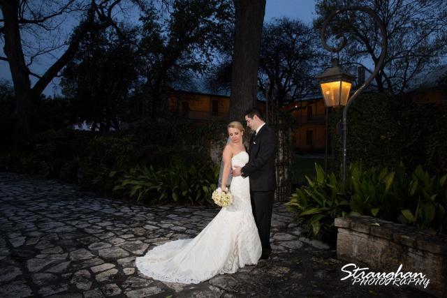 Carly's wedding Southwest School of Art Carly and Jason lightpole