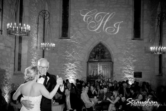 Carly's wedding Southwest School of Art dad dance