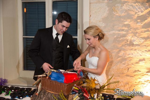 Carly's wedding Southwest School of Art Cake