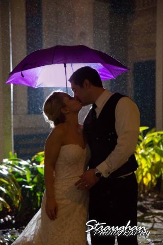 Carly's wedding Southwest School of Art umbrella