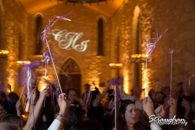 Carly's wedding Southwest School of Art wedding wands