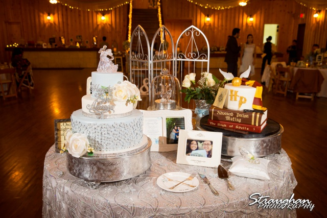 Cheyenne wedding the Springs Boerne cake table