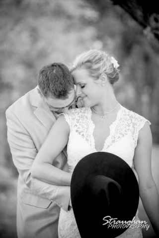 The vineyard at Gruene chelsey wedding couple black white