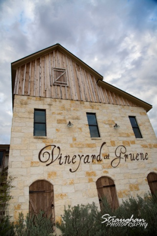 The vineyard at Gruene building