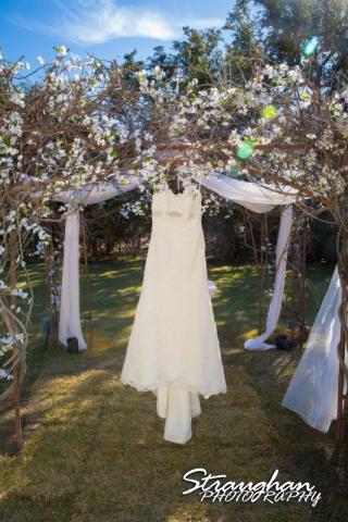 Cody Wedding Los Encinos dress hanging