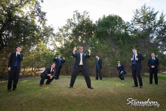 Cody Wedding Los Encinos the groomsmen