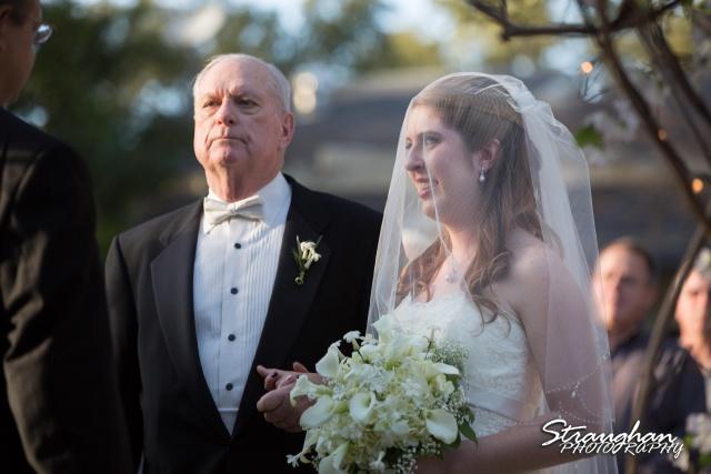 Cody Wedding Los Encinos dad and daughter