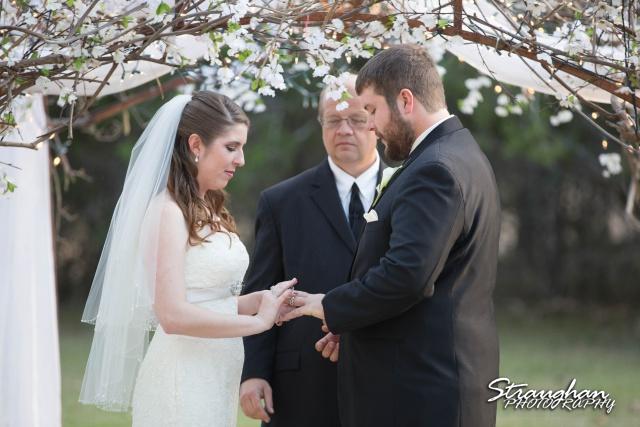 Cody Wedding Los Encinos ring exchange