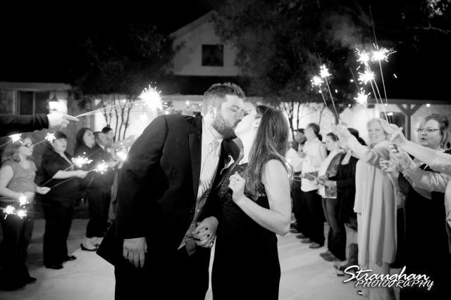 Cody Wedding Los Encinos exit kiss