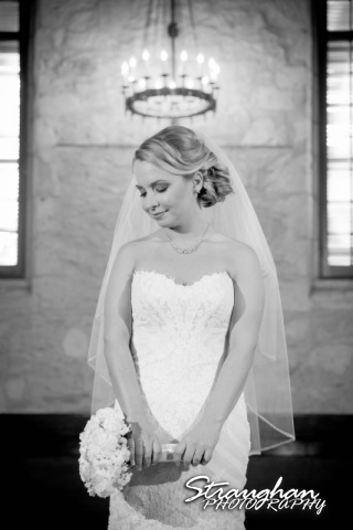 Carly's bridal Southwest School of Art halo bw