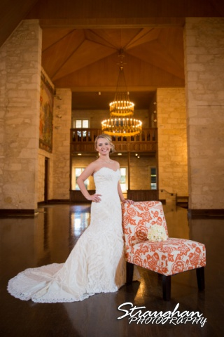 Carly's bridal Southwest School of Art chair