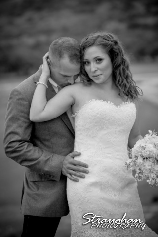 Samantha wedding Happy H Ranch black and white kiss shoulder