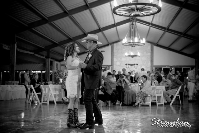 Samantha wedding Happy H Ranch fathers dance