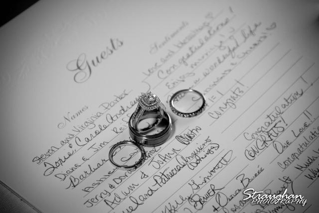 Erin Wedding Gardens of Cranesbury View rings