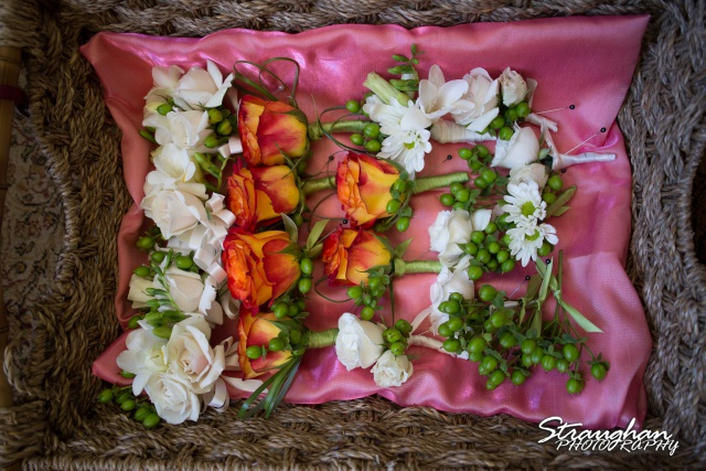 Erin Wedding Gardens of Cranesbury View flowers in the basket