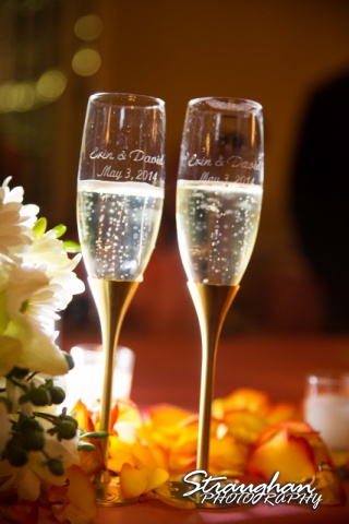 Erin Wedding Gardens of Cranesbury View champagne glasses