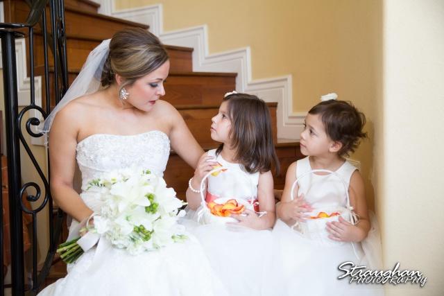 Erin Wedding Gardens of Cranesbury View bride with flower girls